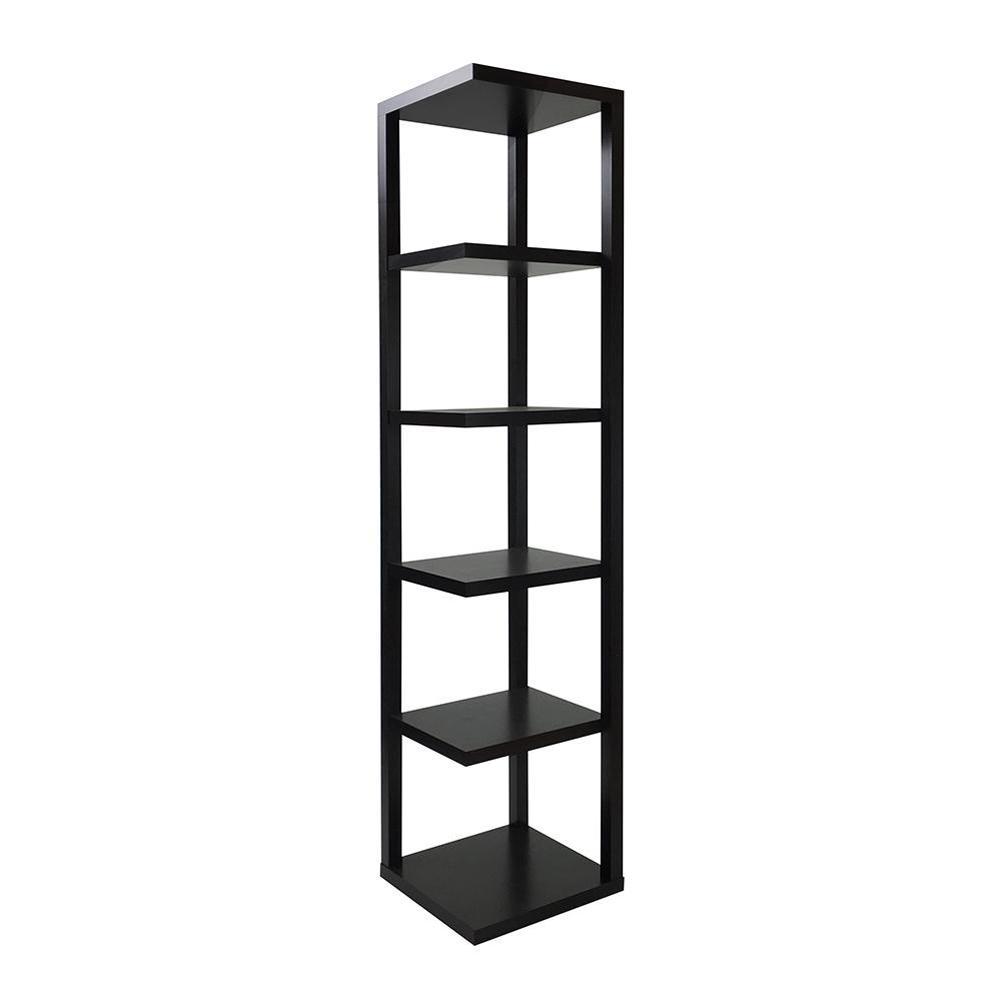 Acme furniture mileta cappuccino open bookcase