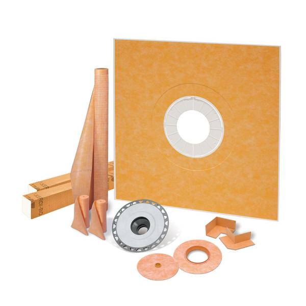Kerdi-Shower-Kit 72 in. x 72 in. Shower Kit with PVC Flange