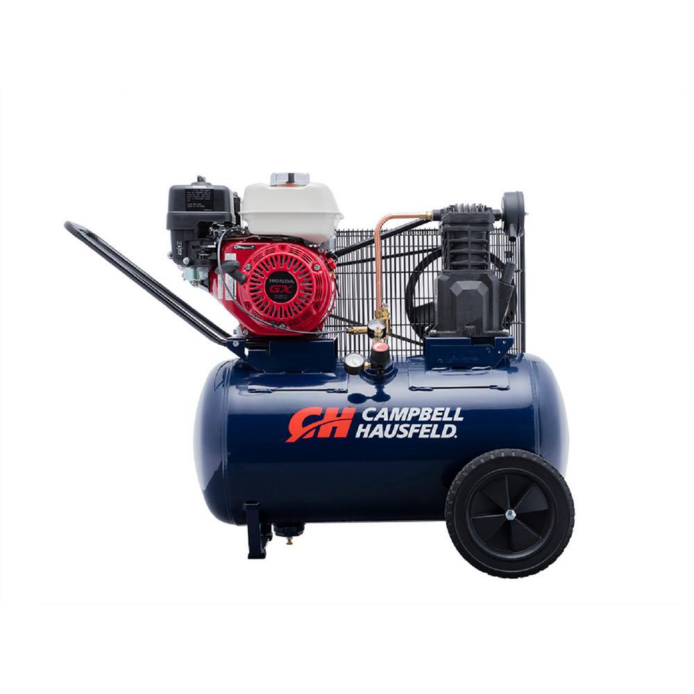 20 Gal. Horizontal Gas Single-Stage 10.2 CFM GX160 Honda Portable Air Compressor