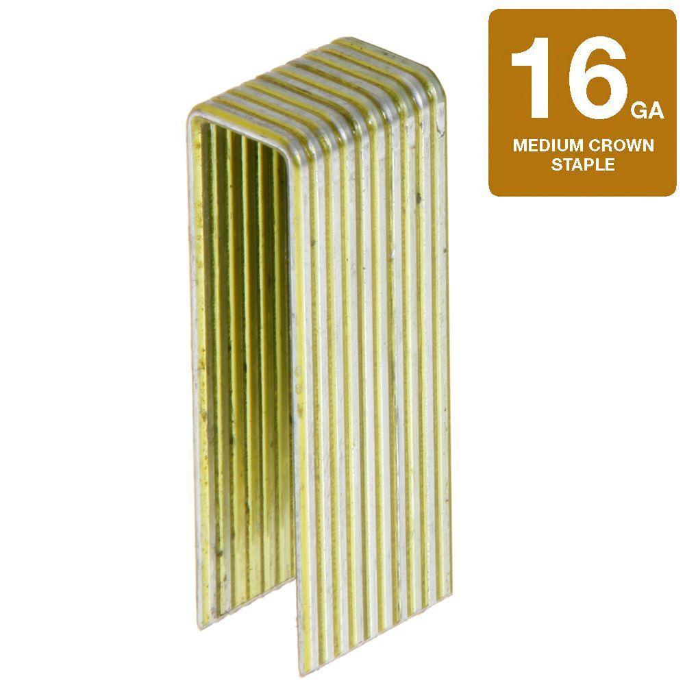 "N19 1 3//4/"" Inch 7//16/"" Crown 16 Gauge 10,000 Count Senco N Wire Galvanized Staple"