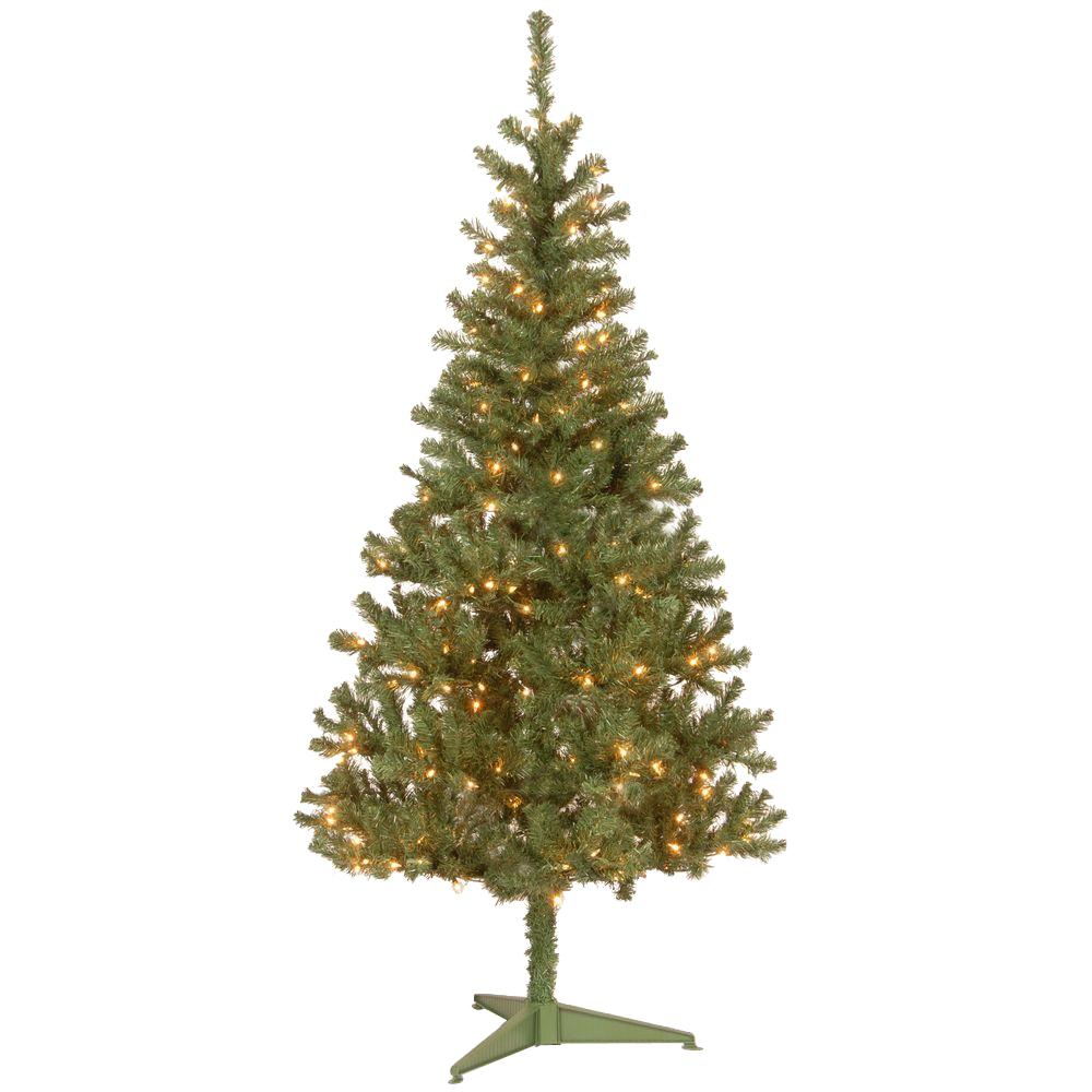 National Tree Company 6 Ft Canadian Grande Fir Artificial Christmas Tree With Clear Lights