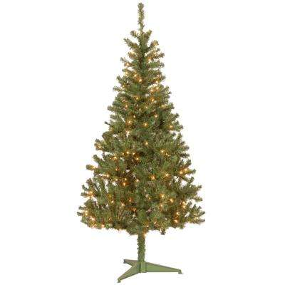 6 ft. Canadian Grande Fir Artificial Christmas Tree with Clear Lights