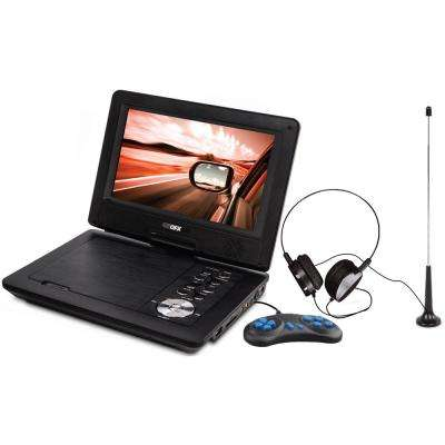 7 in. LCD Multi-Media DVD Player with USB and SD Card Reader and Built-In Rechargeable Battery