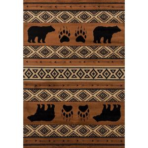 8cdc92235dc United Weavers Affinity Black Bears Lodge 7 ft. 10 in. x 10 ft. 6 in ...