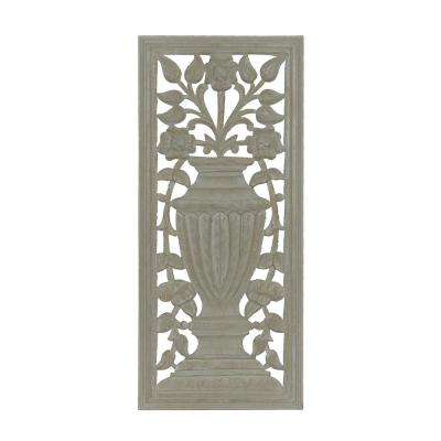 Lapman Grey Hand Carved Wooden Panel