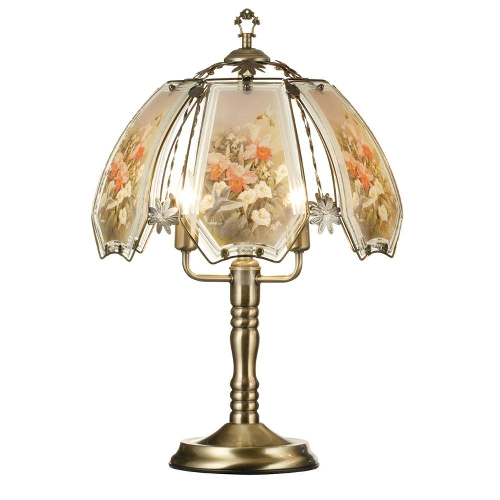 ORE International 23.5 in. Hummingbird Brushed Gold Touch Lamp