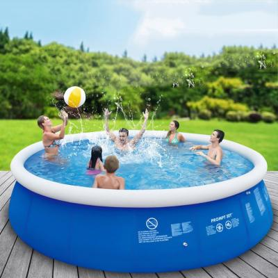 8 ft. Round 30 in. Deep Easy Set Above Ground Inflatable Pool