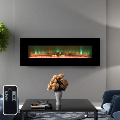 48 in. Wall-Mount Electric Fireplace in Black