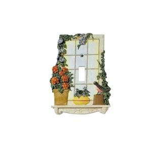 window garden 2 toggle wall plate multi color