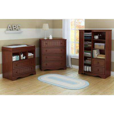 Savannah 2 Drawer Royal Cherry Changing Table