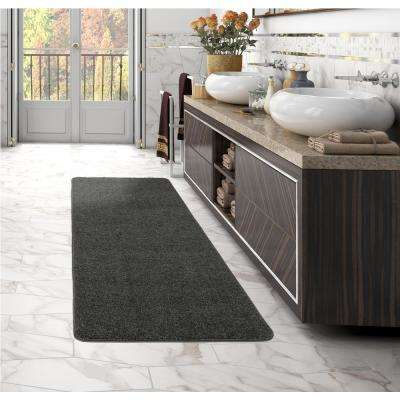 Luxury Collection Shag Solid Design Gray 2 ft. x 5 ft. Runner Rug
