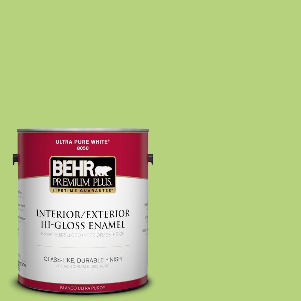 1 gal. #420B-4 Tart Apple Hi-Gloss Enamel Interior/Exterior Paint