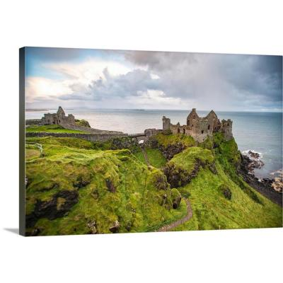"""Dunluce Castle, County Antrim, Ireland"" by Circle Capture Canvas Wall Art"