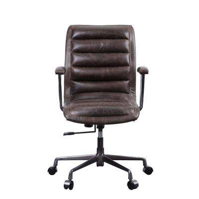 Zooey Distress Chocolate Top Grain Leather Executive Office Chair