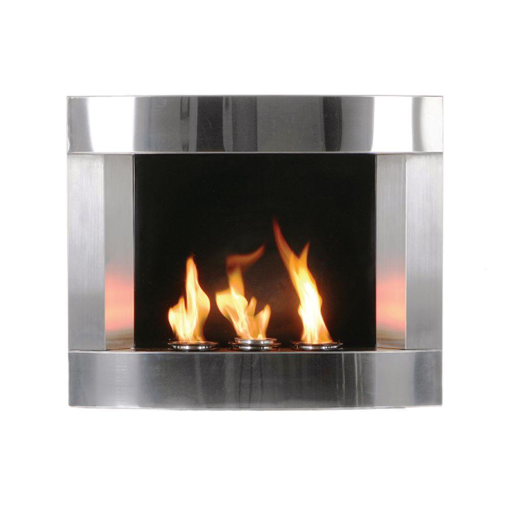 Southern Enterprises 30 in. Gel Fuel Fireplace in Stainless Steel-DISCONTINUED