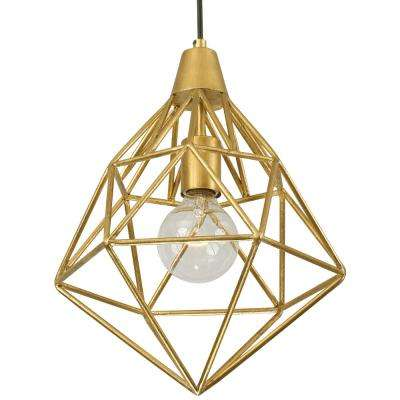 Facet 1 Light Gold Leaf Mini Pendant