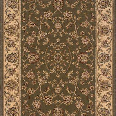 Kurdamir Rockland Green 33 in. x Your Choice Length Stair Runner