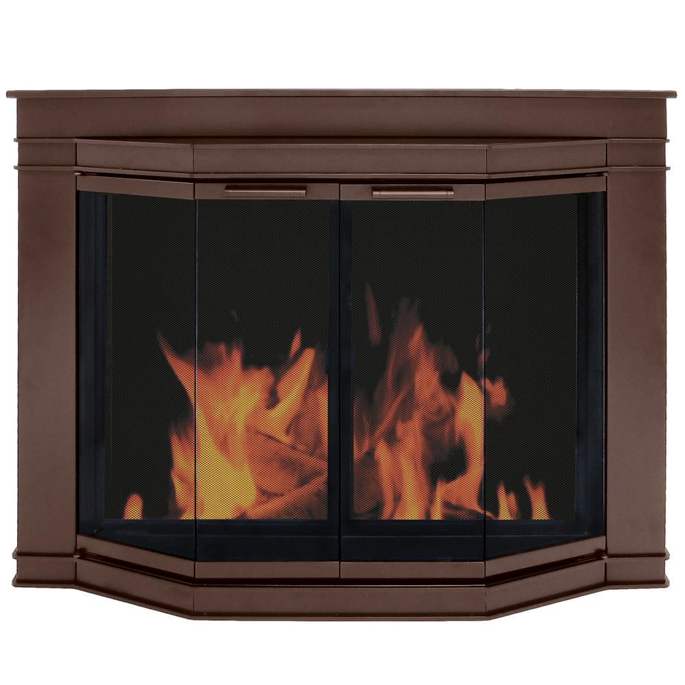 Pleasant Hearth: Pleasant Hearth Grantham Small Glass Fireplace Doors-GL