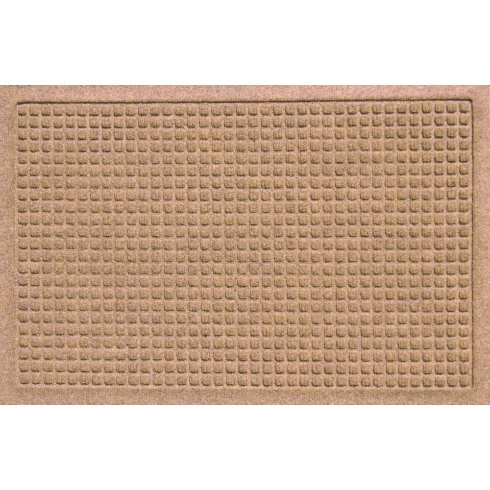 Aqua Shield Squares Medium Brown 17.5 in. x 26.5 in. Door Mat