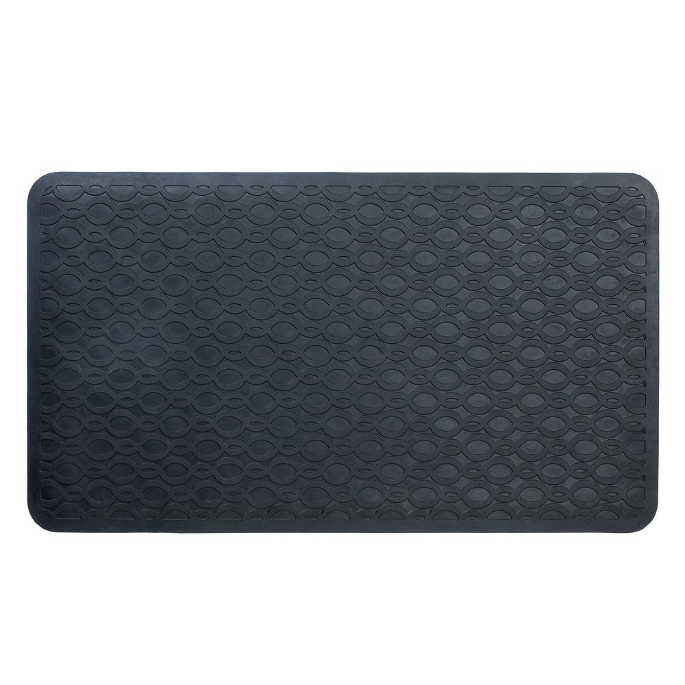 933ea3265f0bd SlipX Solutions 15 in. x 27 in. Large Rubber Safety Bath Mat with Microban
