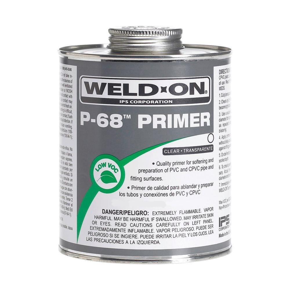 Weld-On 32 oz. PVC P-68 Primer - Clear