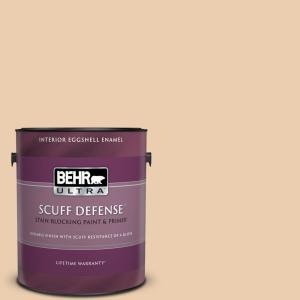 1 gal. #BXC-64 Shortbread Cookie Extra Durable Eggshell Enamel Interior Paint and Primer in One