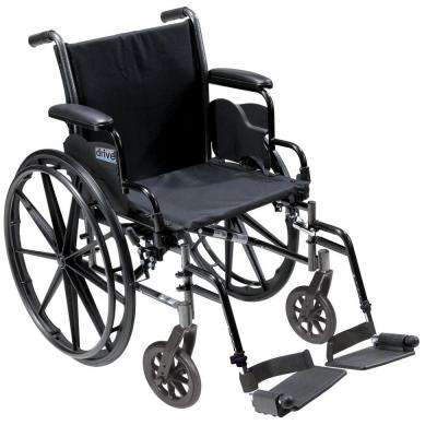 Cruiser III Light Weight Wheelchair with Flip Back Removable Arms, Desk Arms, Swing Away Footrests and 18 in. Seat
