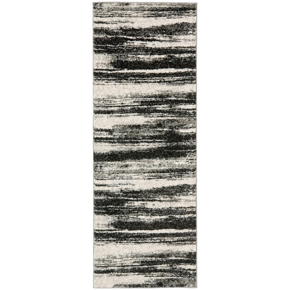 Safavieh Retro Dark Gray/Light Gray 2 ft. 3 in. x 13 ft. Runner Rug