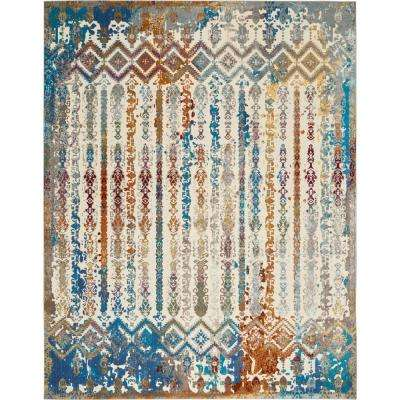 Entice Colorful Multi-Color 8 ft. x 10 ft. Area Rug