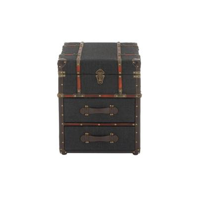 Dark Blue Luggage-Style End Table