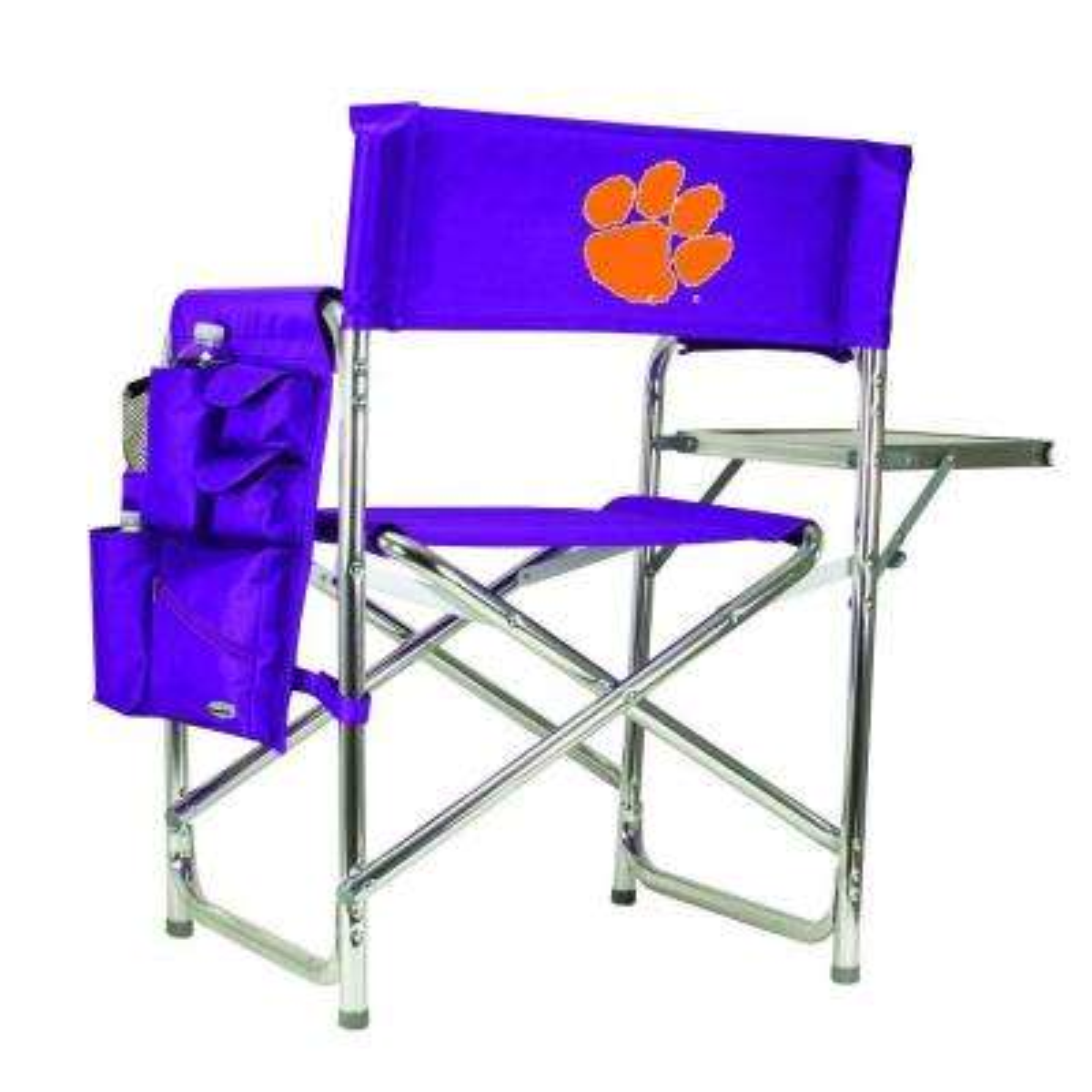 Clemson University Purple Sports Chair with Digital Logo