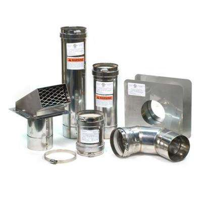 4 in. Horizontal Stainless Steel Vent Kit with Backflow Preventer