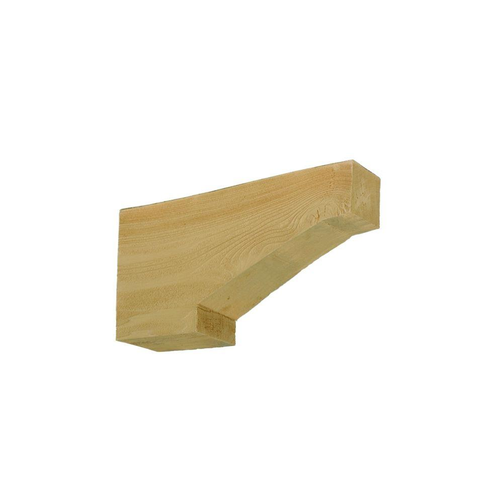 Fypon 18 in. x 3 in. x 9 in. Polyurethane Timber Corbel