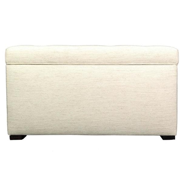 MJL Furniture Designs Angela Belfast Ivory Button Tufted Upholstered Storage Trunk