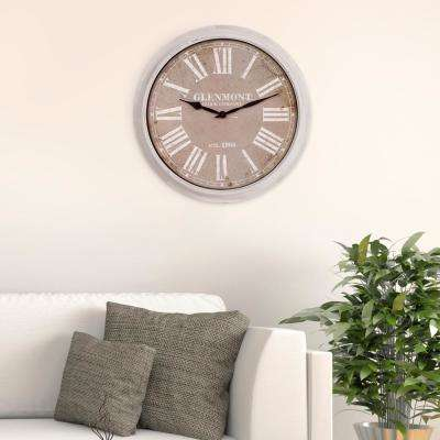 Distressed Wood Cream Wall Clock