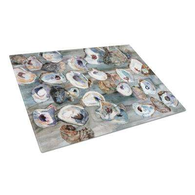 Bunch of Oysters Tempered Glass Large Heat Resistant Cutting Board