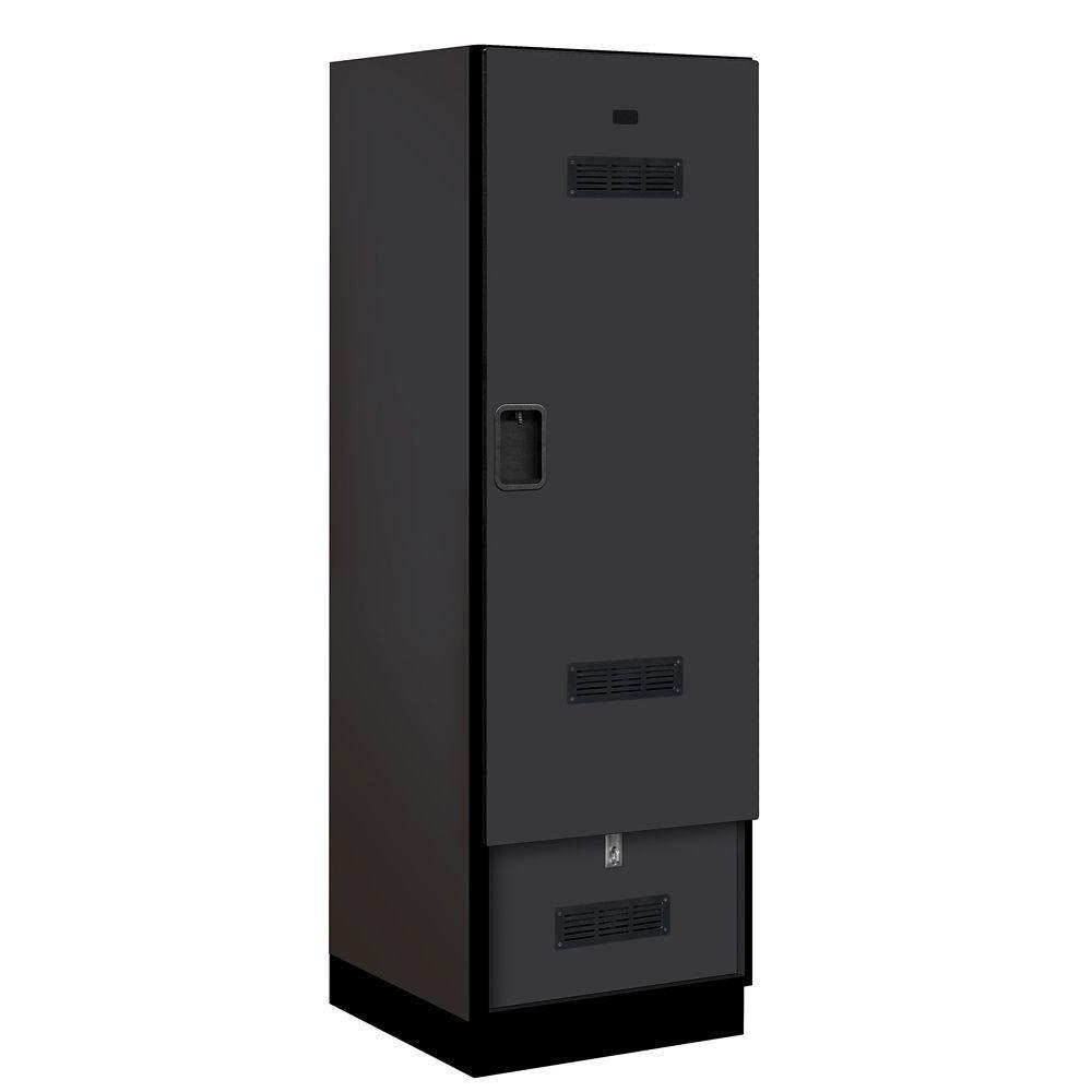 Salsbury Industries 30000 Series 24 in. W x 76 in. H x 24.75 in. D Designer Gear Locker in Black
