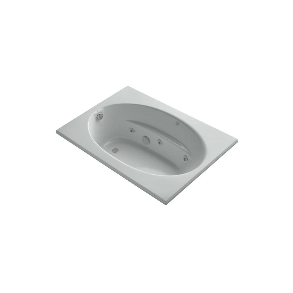 KOHLER Windward 5 ft. Whirlpool Tub in Ice Grey-DISCONTINUED
