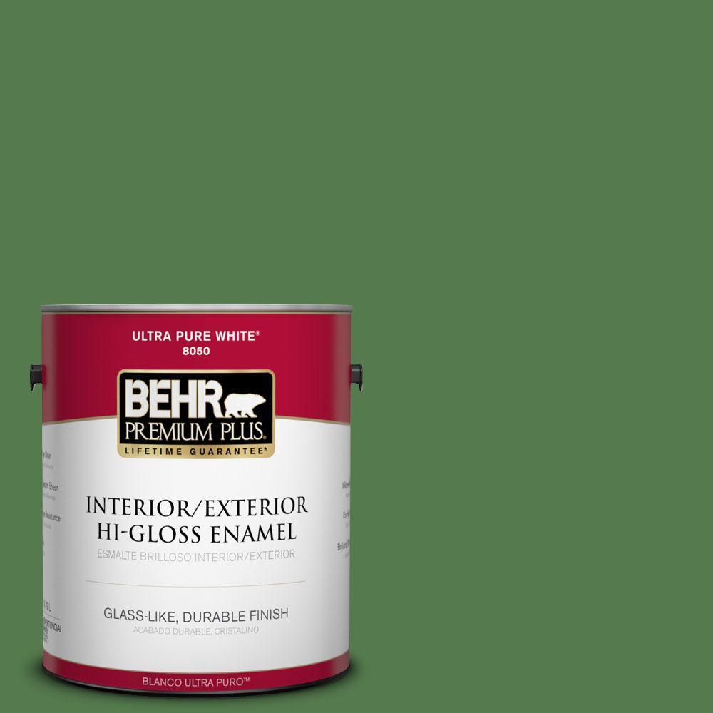 BEHR Premium Plus 1-gal. #450D-7 Torrey Pine Hi-Gloss Enamel Interior/Exterior Paint