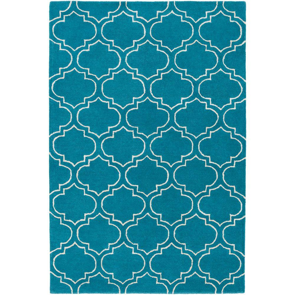Signature Emily Teal 3 ft. x 5 ft. Indoor Area Rug