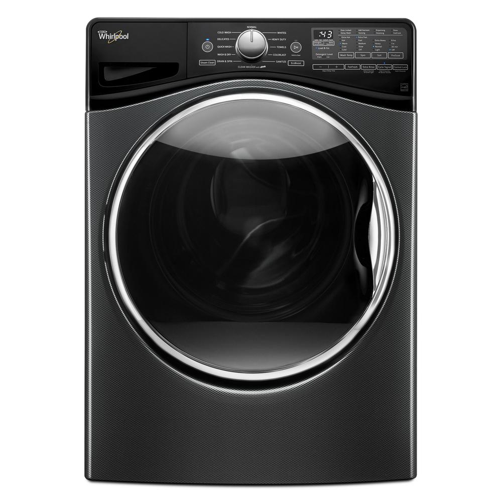 Whirlpool 4 5 cu ft high efficiency stackable black for 5 star energy