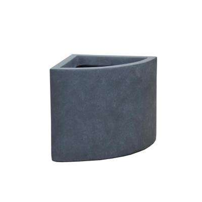 Large 15.7 in. x 15.7 in. x 15.7 in. Granite Lightweight Concrete Large Short Corner Planter