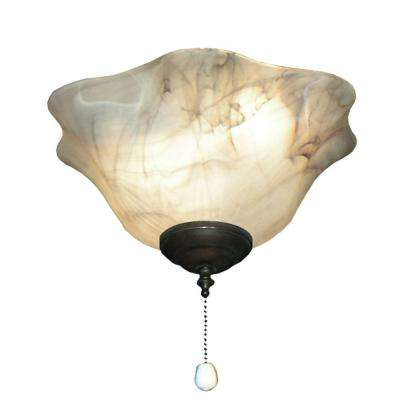 141 Mocha Bowl Oil Rubbed Bronze Ceiling Fan Light