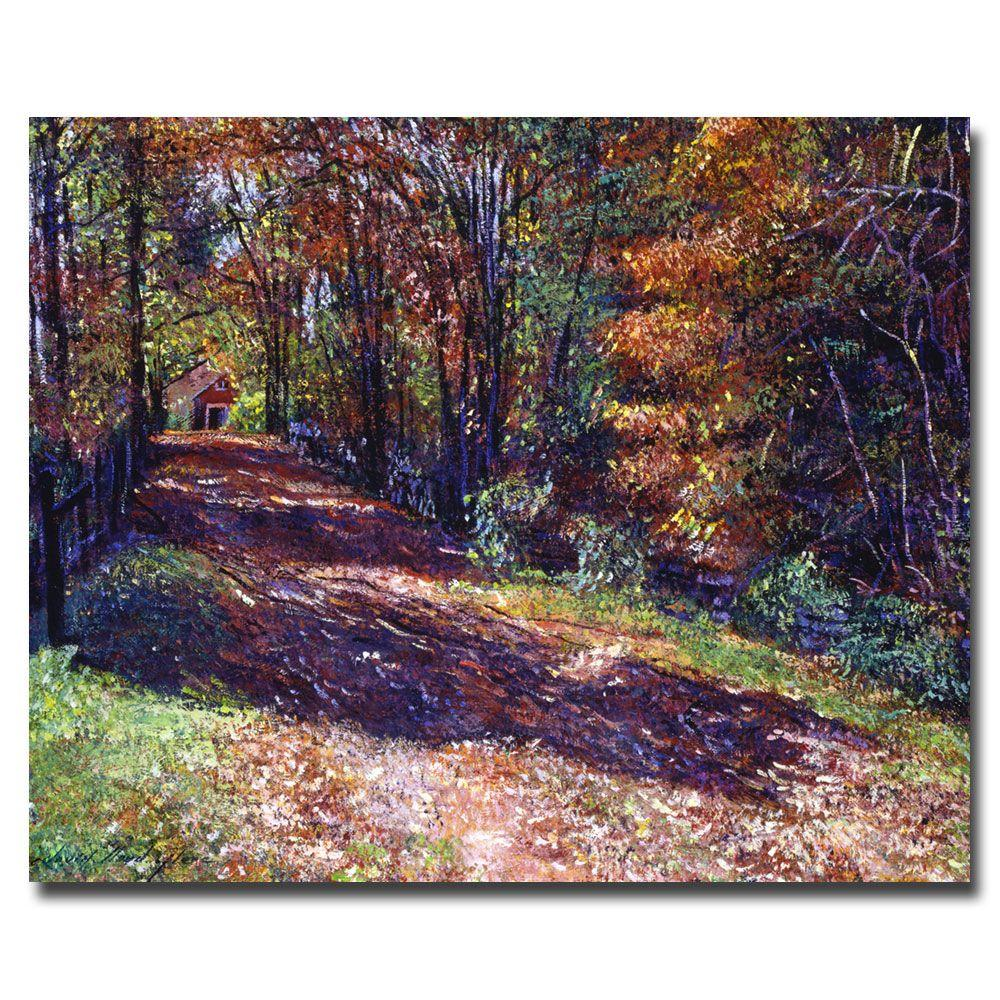 Trademark Fine Art 26 in. x 32 in. Old Farmhouse Road Canvas Art