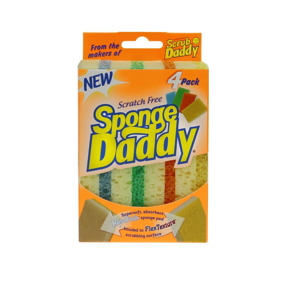Sponge Daddy Dual Sided Sponge (4-Pack)