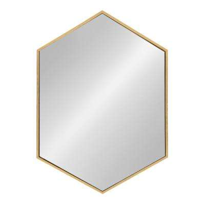 McNeer Hexagon Gold Accent Mirror