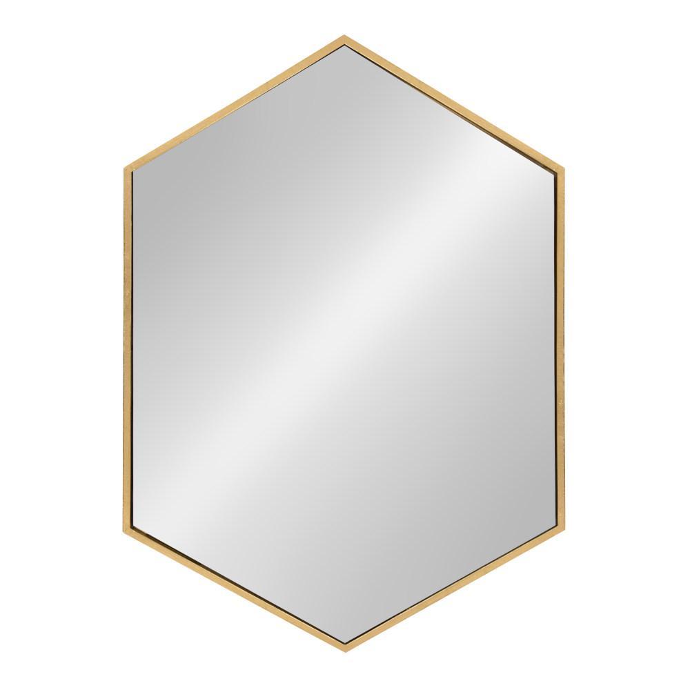 McNeer Hexagon Gold Accent Mirror