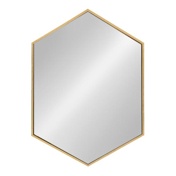 Kate And Laurel Medium Novelty Gold Art Deco Mirror 31 1 In H X 21 85 In W 212012 The Home Depot