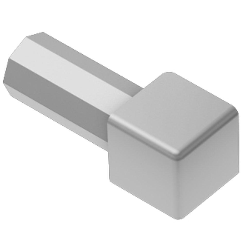 Quadec Satin Anodized Aluminum 1/2 in. x 1 in. Metal Inside/Outside