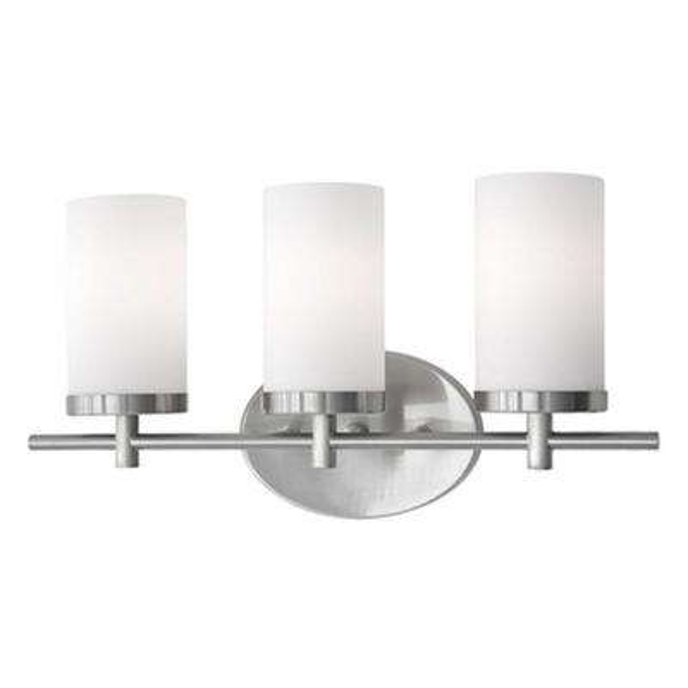 Bailey 3-Light Brushed Nickel Bath Light